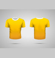 mockup of blank yellow realistic sport t-shirt vector image