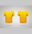 mockup of blank yellow realistic sport t-shirt vector image vector image