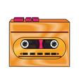 old cassette recorder pop art colors vector image vector image