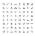 outline web line icon set wedding vector image