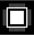 processor the white color icon vector image
