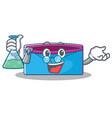 professor pencil case character cartoon vector image