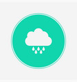 rain icon sign symbol vector image vector image