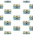 retro camera doodle hand-drawn seamless pattern vector image vector image
