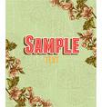 retro floral background vector image vector image