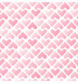 romantic pink hearts seamless pattern valentines vector image