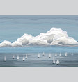 sailboats in the sea landscape vector image