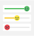 satisfaction rating switch toggle customer vector image