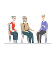 senior people talking - flat design style vector image vector image