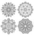 set indian boho floral mandalas vector image