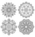 Set of Indian boho floral mandalas vector image vector image