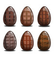 set with chocolate eggs vector image