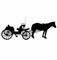 shadow of a large carriage vector image vector image