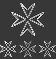 Silver line company logo design set vector image vector image