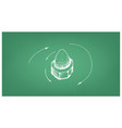 sketch of acorn nut and screw on blueprint vector image