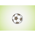 sketch of the football ball vector image vector image
