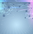 Social user network structure web background vector image