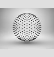 Sphere with dots halftone connection concept
