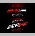 sport modern alphabet and number fonts motor vector image