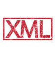 stamp text xml vector image vector image