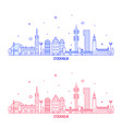 stockholm skyline sweden city buildings vector image vector image