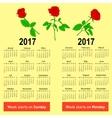 Stylish German calendar for 2017 vector image vector image