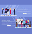 successful business web set vector image