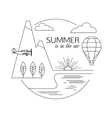 Summer is in the air Air travel and tourism vector image vector image