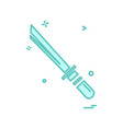 sword icon design vector image vector image
