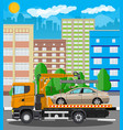 tow truck city road side assistance service vector image vector image