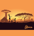 tribal women on background an african vector image vector image