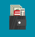 wallet flat style vector image