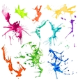 Water Color Splash Stains vector image