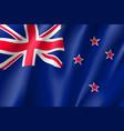 waving flag of new zealand vector image