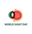 world sight day october 11 eye structure vector image vector image