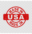 made in usa red stamp on isolated background vector image
