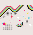 abstract pop art background colorful geometric vector image