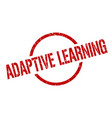 adaptive learning stamp vector image vector image
