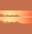 belgrade beautiful skyline scenery banner vector image vector image