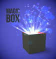 Black Box with magic lights vector image vector image