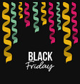black friday poster with colorful decorative vector image vector image