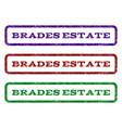 brades estate watermark stamp vector image vector image