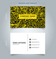 business name card yellow marble texture on black vector image