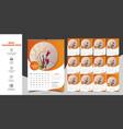 calendar 2020 template vector image