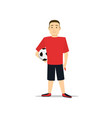 cartoon character football boy soccer sport game vector image vector image