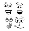 cartoon face symbol icon design vector image
