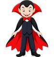cartoon vampire mascot vector image vector image