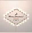christmas glowing garland on a gentle pleasant vector image