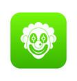 clown icon digital green vector image vector image