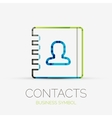 Contacts company logo business concept vector image
